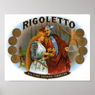 Rigoletto All Fine Havana Tobaccos Cigar Label Poster