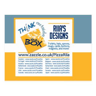 Riia's Designs postcard