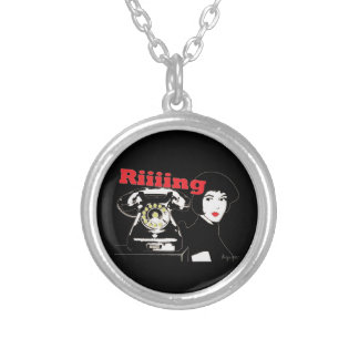 Riiiing Silver Plated Necklace