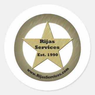 Rijas Services, LLC Classic Round Sticker