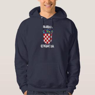 Rijeka, Croatia with coat of arms Hooded Pullover