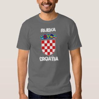 Rijeka, Croatia with coat of arms T Shirt