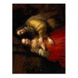 Rijn, Rembrandt Harmensz. van Nederlands: Portret  Post Card