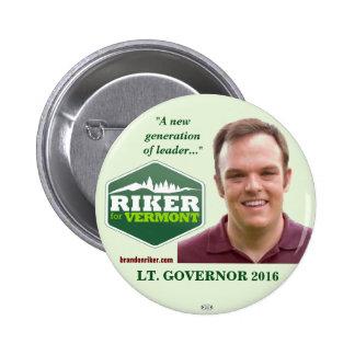Riker Lt. Governor Vermont 2016 political button