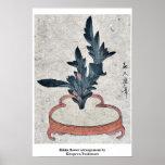Rikka flower arrangement by Kitagawa,Tsukimaro Poster