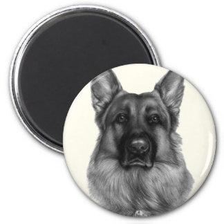 Rikko, German Shepherd 2 Inch Round Magnet