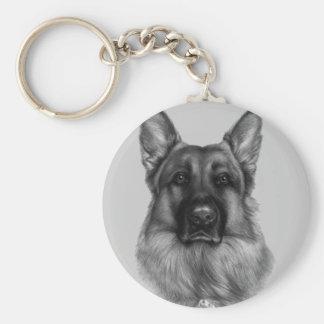 Rikko, German Shepherd Basic Round Button Keychain