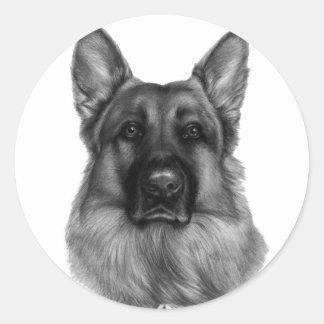 Rikko, German Shepherd Classic Round Sticker