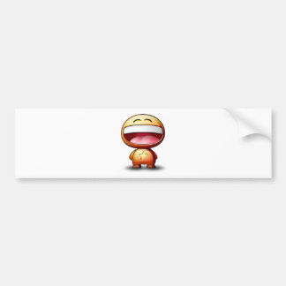 Riko Tooney Happy Face Bumper Sticker