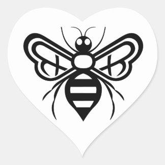 Riley Acres Bee Logo Heart Sticker