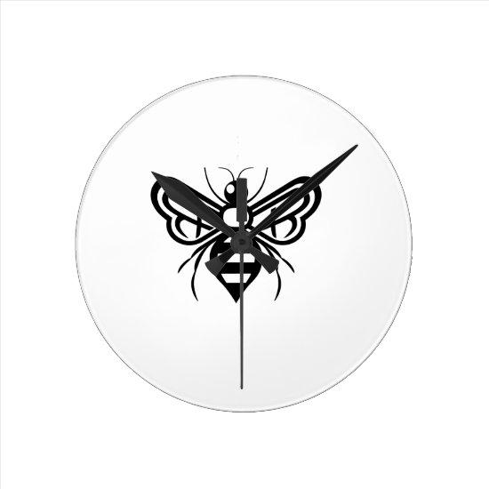 Riley Acres Bee Logo Round Clock
