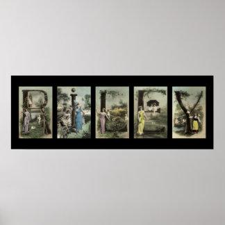 RILEY Alphabet Letter Name Art Poster