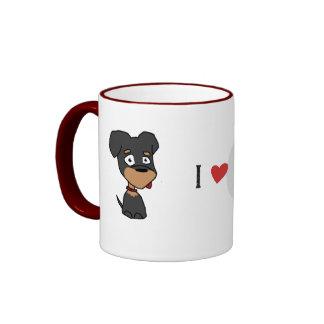 """""""Riley"""" amo mi taza del perro"""