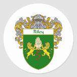 Riley Coat of Arms (Mantled) Classic Round Sticker