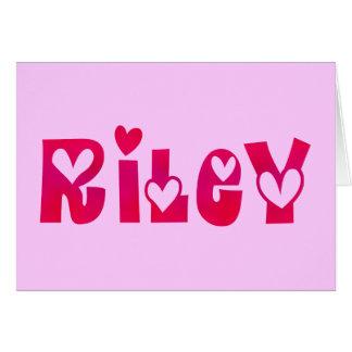 Riley in Hearts Card