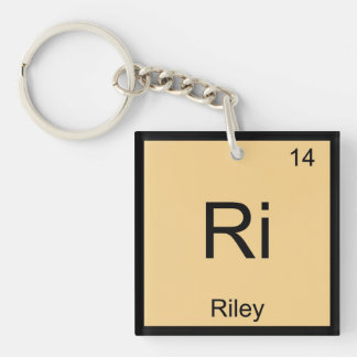 Riley Name Chemistry Element Periodic Table Keychain