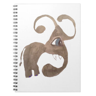 Riley The Elefanty Spiral Notebook