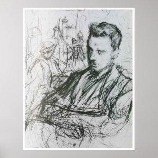 Rilke - bosquejo póster