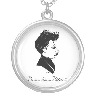 Rilke - caricatura collar plateado