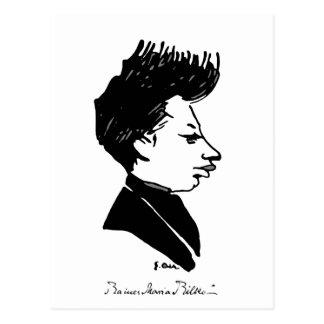 Rilke Caricature Postcard