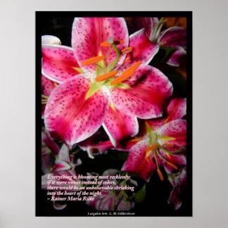 Rilke Quote - Stargazers Poster