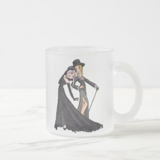 Rill and Zoe 10 Oz Frosted Glass Coffee Mug