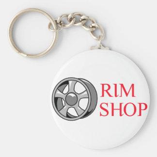 Rim Shop Basic Round Button Keychain