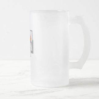 Rim Shot Frosted Glass Beer Mug