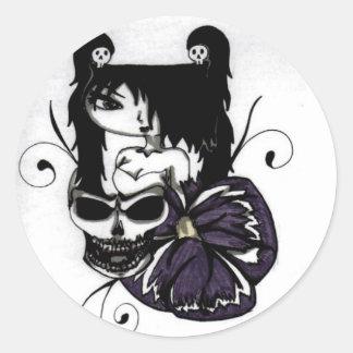 Rim Tattoo Classic Round Sticker