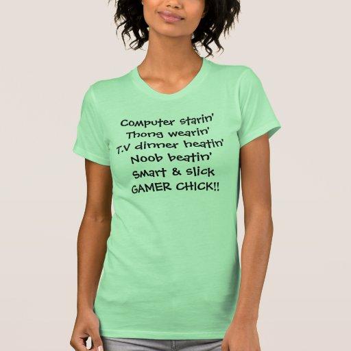 rima del polluelo del chica del videojugador camiseta