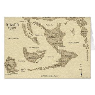 Rimarian World Map 2009 Greeting Card