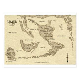 Rimarian World Map 2009 Postcard
