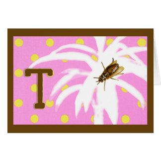 Rimas para el A-Z de los insectos (T para la mosca Tarjeta De Felicitación