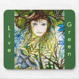 RIMAS WORLD, Live, Green Mouse Pad