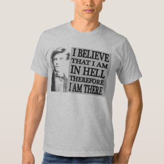 Rimbaud en camiseta del infierno remeras