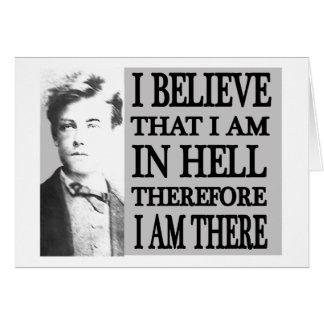 Rimbaud en infierno tarjetón