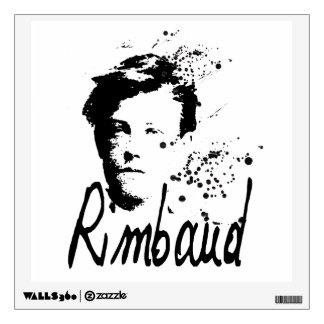 RIMBAUD - Etiqueta de la pared del arte gráfico