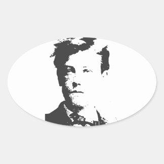 Rimbaud Calcomanía De Ovaladas