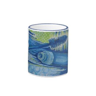 Rimel azul eléctrico taza de dos colores