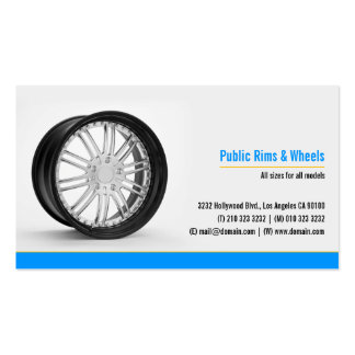 Rims and Wheels Body Shop Business Card