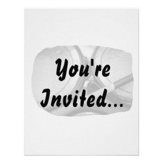 Rims Lug Nut Drumstick Toms Square Invitations