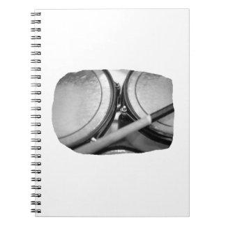 Rims Lug Nut Drumstick Toms Square Spiral Notebook