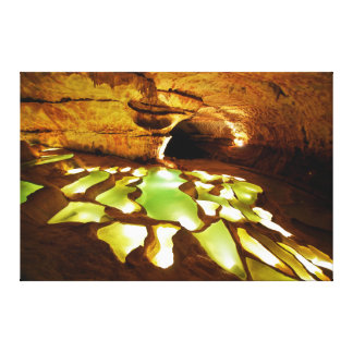 Rimstone Formation in Caves Canvas Prints