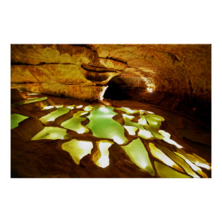 Rimstone Formation in Caves Poster