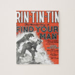 Rin-Tin-Tin vintage movie poster Puzzle