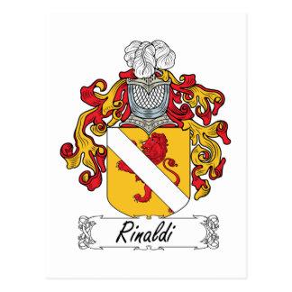 Rinaldi Family Crest Postcard