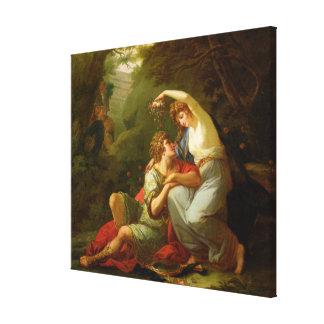 Rinaldo and Armida, 1771 (oil on canvas) Gallery Wrap Canvas