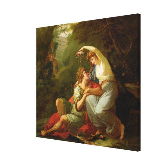 Rinaldo and Armida, 1771 (oil on canvas) Canvas Print