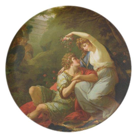 Rinaldo and Armida, 1771 (oil on canvas) Dinner Plate