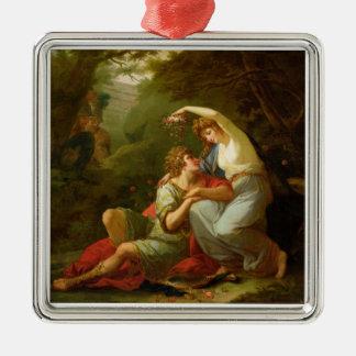 Rinaldo and Armida, 1771 (oil on canvas) Metal Ornament